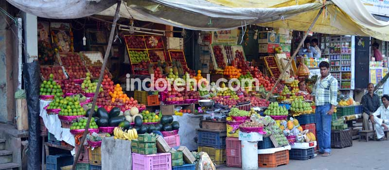 fruit market of indore, naliabakhal, mandi, market, rajwada - IndoreHD