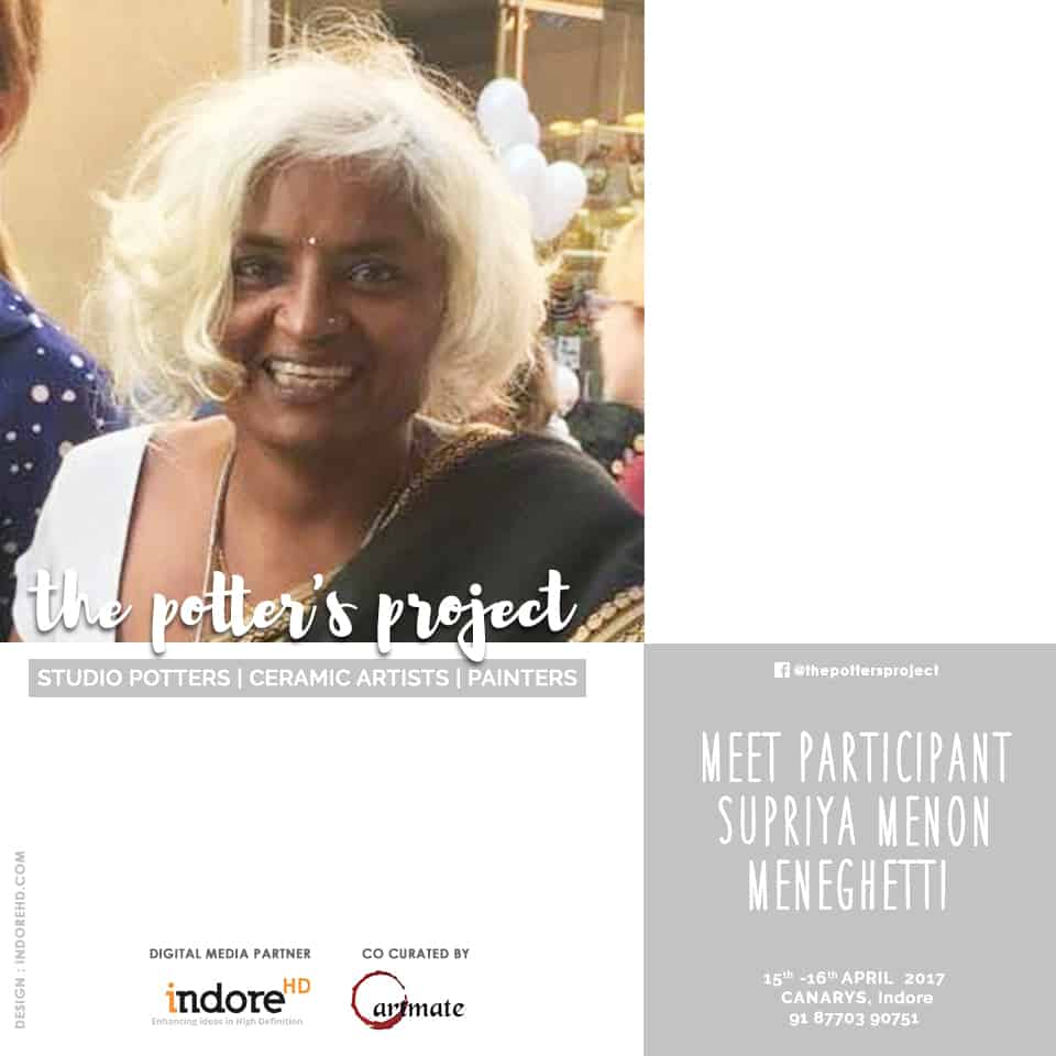 the potters project event participant-Supriya menon meneghetti - indore-indorehd