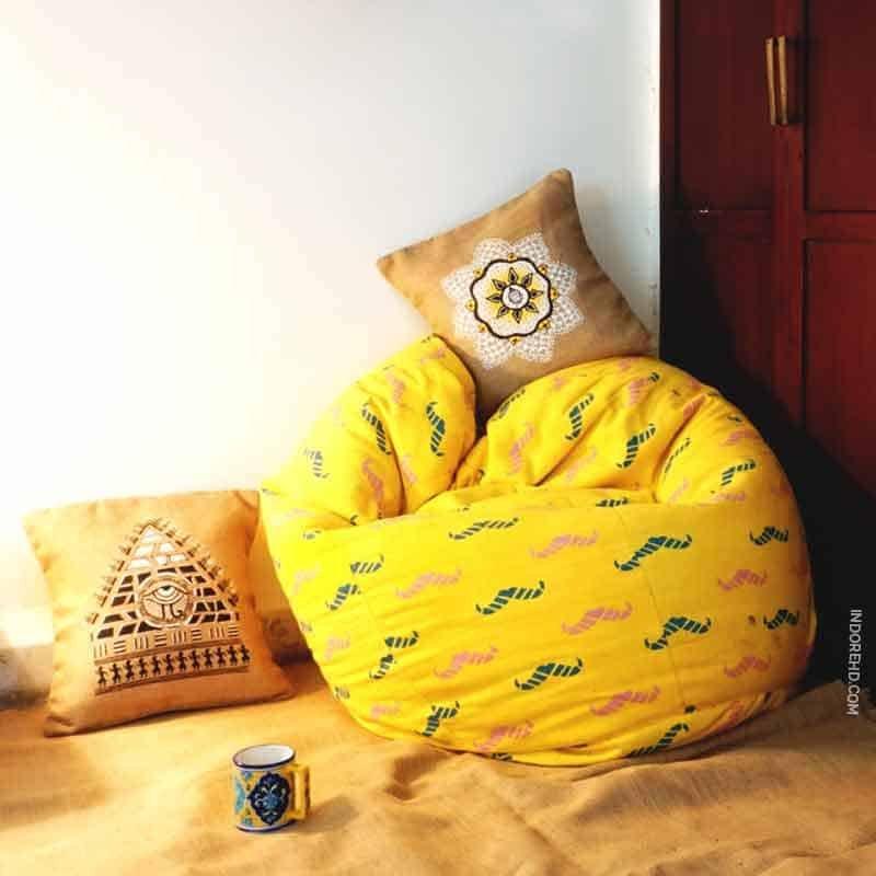 Yellow-bean-bag-pulpypapaya-IndoreHD