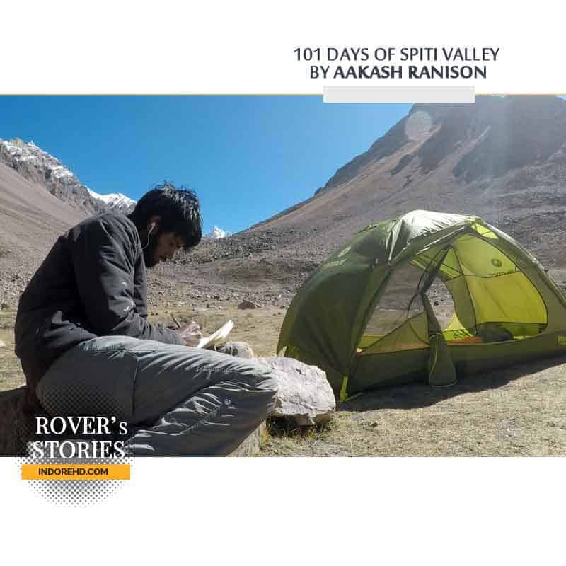 Writing-and-Tent-Spiti-Valley-Rover-Stories-IndoreHD