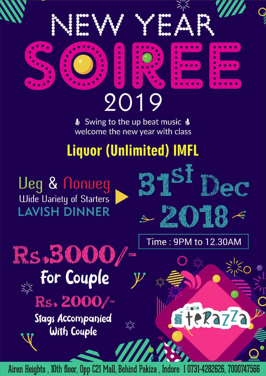 New Year Soiree 2019 By Cafe Terazza Indorehd