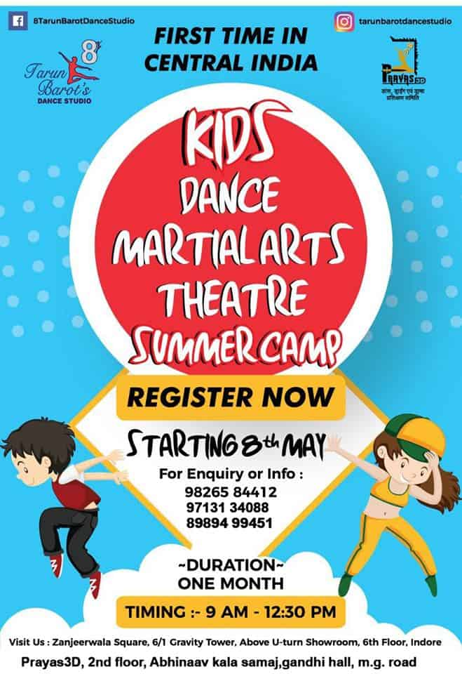 Kids Dance Martialarts Theatre Summer Camp Indore HD Indore City