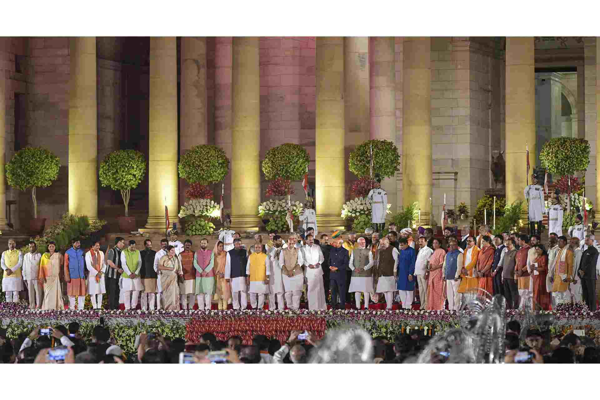 Modis 2019 Cabinet Minister Group Phto