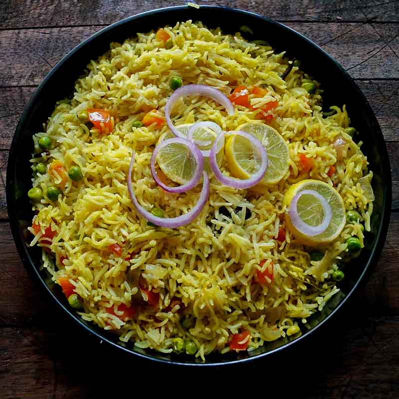 vegetable pulao- IndoreHD