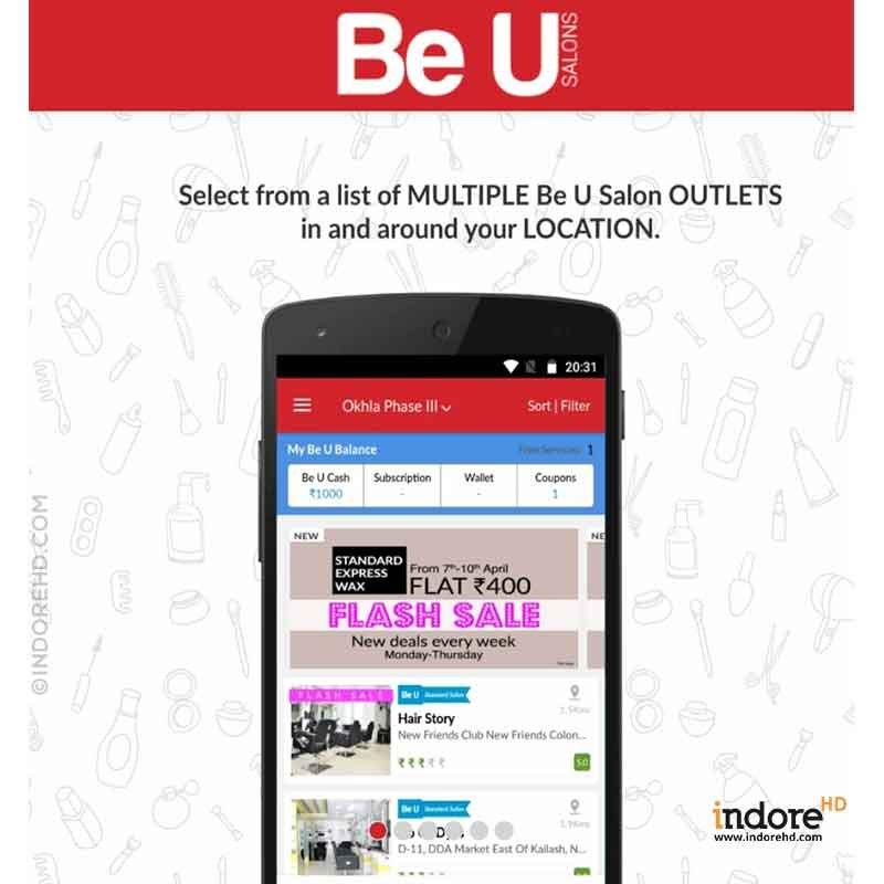 BE U Salon Mobile App