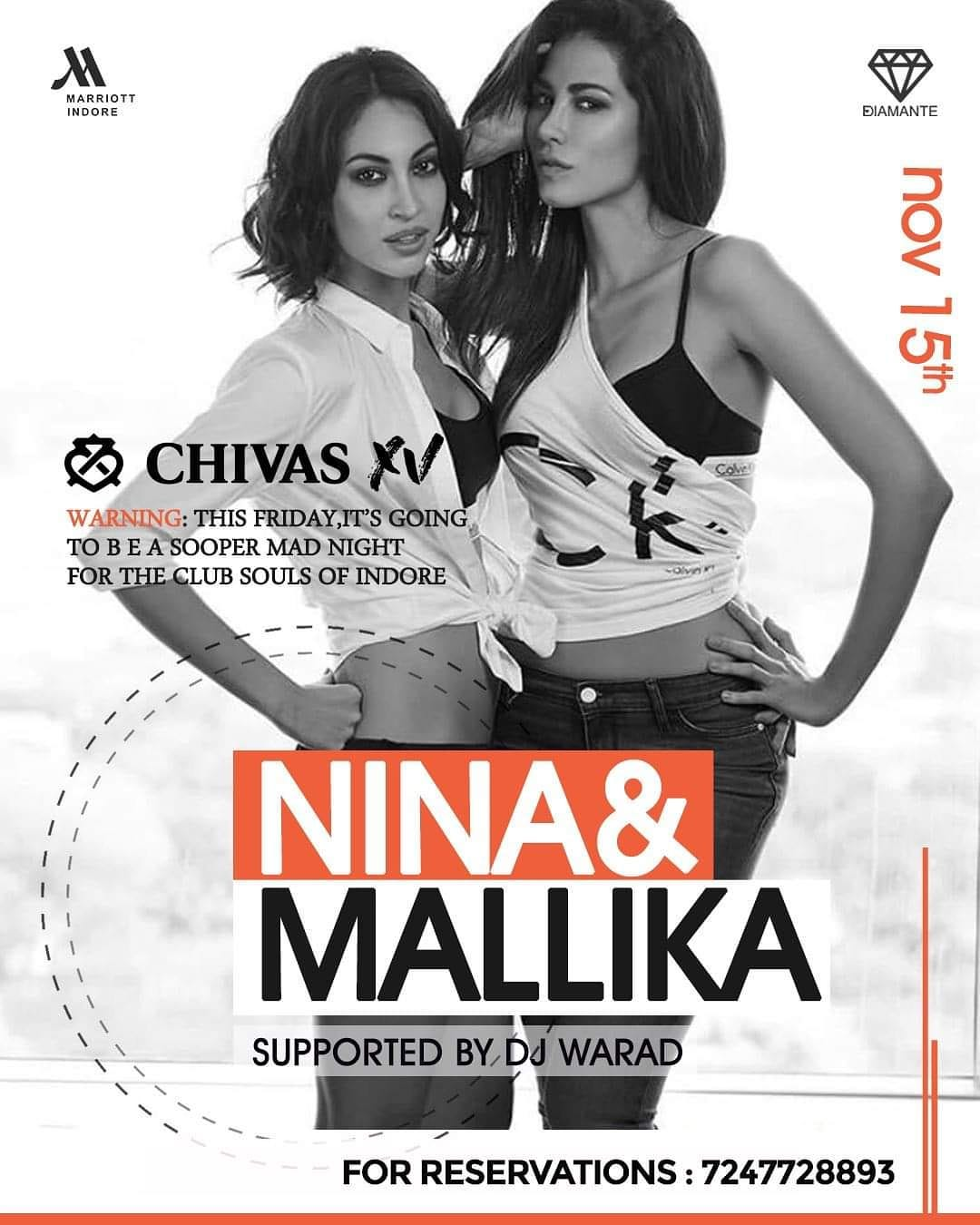 Nina & Malika In The House at Diamante indore HD marriott Hotel