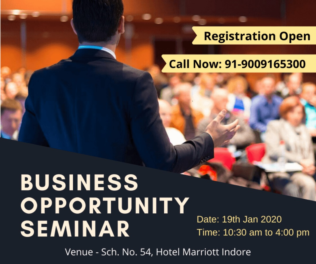 business opportunity seminar- hotel marriott- IndoreHD