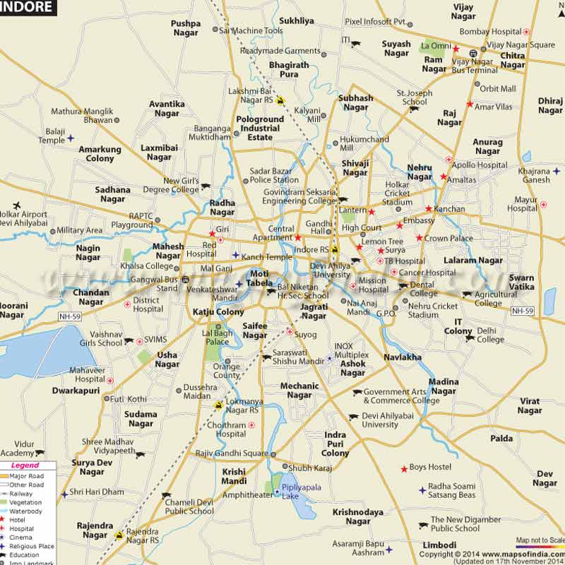 Indore map- IndoreHD