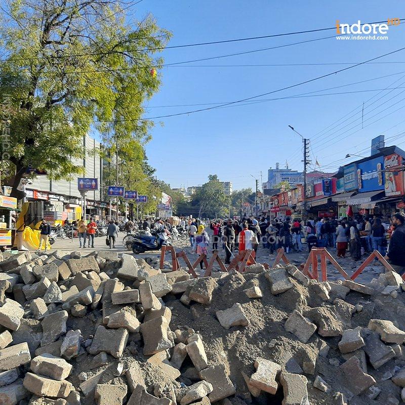 no vehicle zone- chappan dukan- IndoreHD
