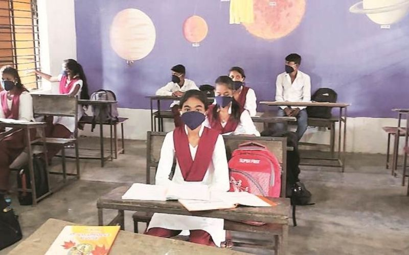 students giving exams