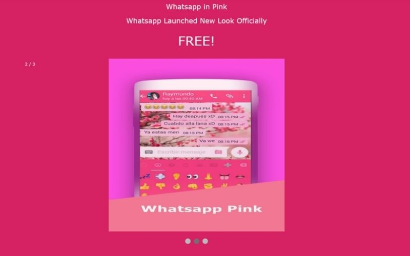 Whatsapp pink and work